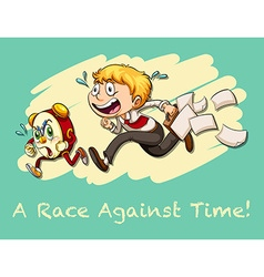 Idiom race against time vector