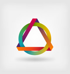 interlocked triangle and ring vector image