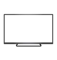 Isolated dark grey borderless television vector