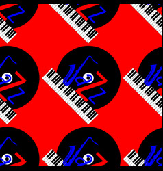 Jazz concept vinyl record piano keyboard and vector