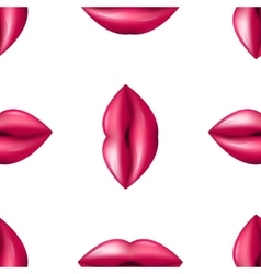 Kiss Seamless lips pattern Red and Pink pattern vector image