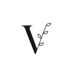 letter v simple logo symbol icon vector image