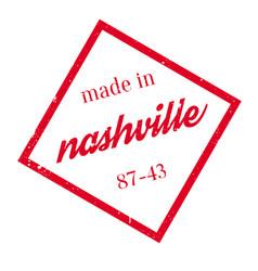 Made in nashville rubber stamp vector