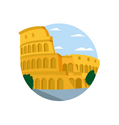 Medieval coliseum rome with nice trees vector