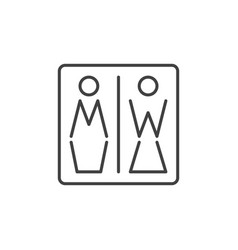 men and women toilet concept icon in thin vector image