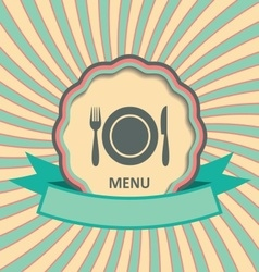 Menu retro label vector
