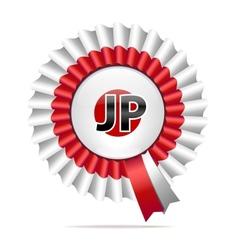 national flag badge JP vector image