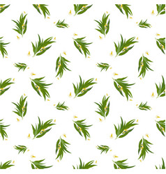 organic seamless pattern with eucalyptus leaves vector image