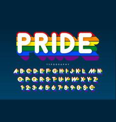 Original display rainbow font design alphabet vector