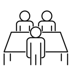 Productive table cooperation icon outline style vector