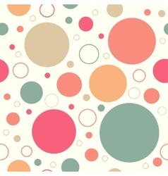 Retro circles pattern vector