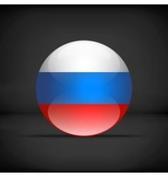 Round Russian flag vector