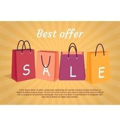 Sale Conceptual Flat Style Web Banner vector