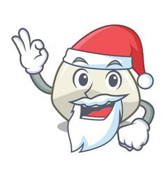 Santa mozzarella cheese isolated on mascot cartoon vector