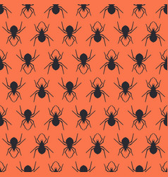 Seamless pattern design with spiders vector