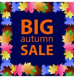 Seasonal big autumn sale vector