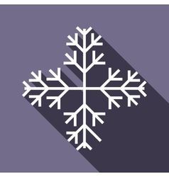 Snowflake icon in flat style vector image