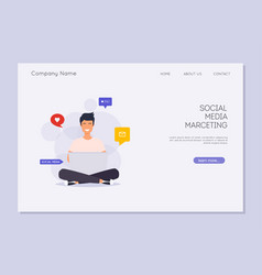 Social media marketing digital marketing online vector