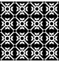 symmetrical flower pattern vector image