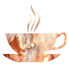 tea watercolor vector image