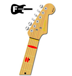 The guitar chord of f minor vector