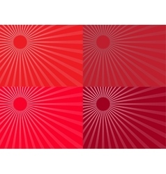 The red rays of the sun Eps 10 vector image