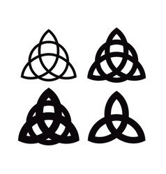triquetra - wiccan symbol from charmed celtic vector image