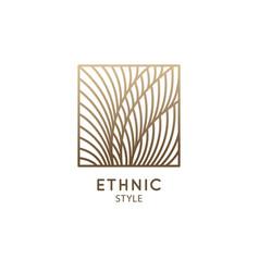 tropical plant logo outline emblem flower vector image