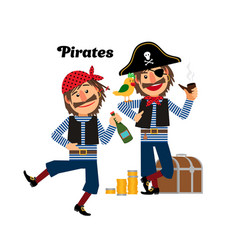 Two pirates icons vector