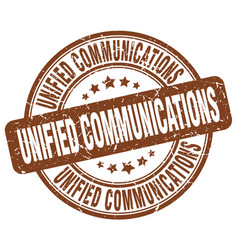 Unified communications brown grunge stamp vector