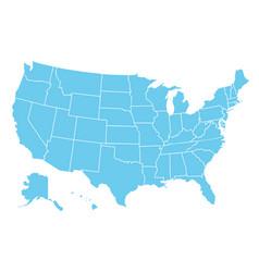 usa map america icon united state america vector image