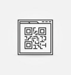 Webpage qr code linear icon vector