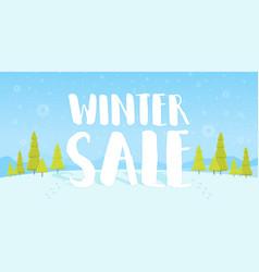 winter sale words on beautiful chrismas flat vector image