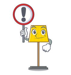 with sign floor lamp character cartoon vector image