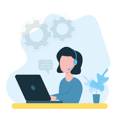 woman working from home home office concept vector image