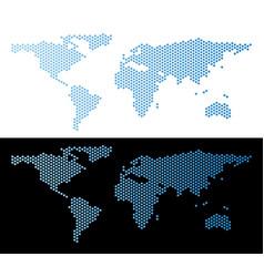World map hex tile scheme vector