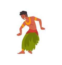 Young man performing folk dance indian dancer in vector