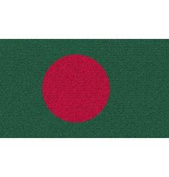 Flags Bangladesh on denim texture vector image