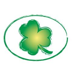 Green Shamrock Grunge Stamp 2 vector image vector image