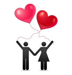 love together vector image vector image
