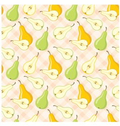 seamless pears pattern vector image vector image