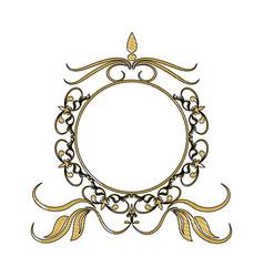 vintage round swirl flourish decoration frame vector image
