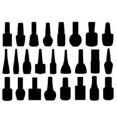 different nail polish bottles vector image