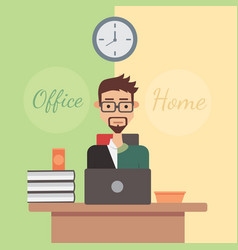 flat design office or home vector image vector image