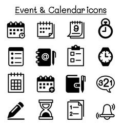 schedule reminder calendar event icon set vector image