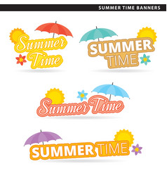summer time banners vector image vector image
