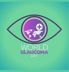 world glaucoma day logo icon design vector image