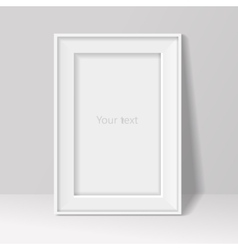 blank frame on white wall background vector image vector image