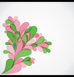 colorful flora background vector image vector image