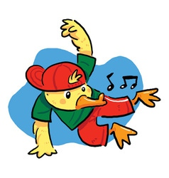 Dancing Duck vector image